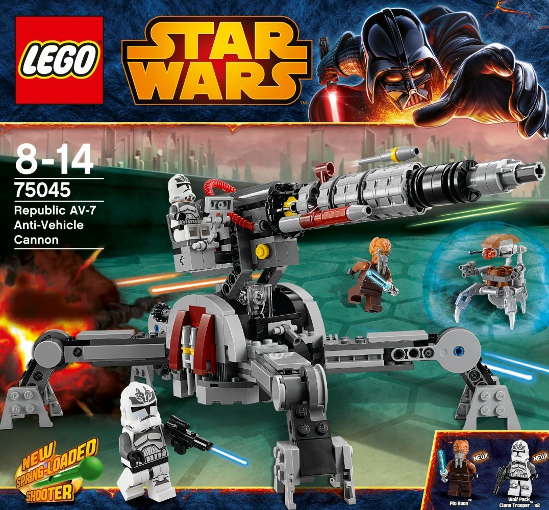 magrudycom star wars lego set 75045 republic av 7 anti vehicle cannon - Lego Star Wars Vaisseau Clone