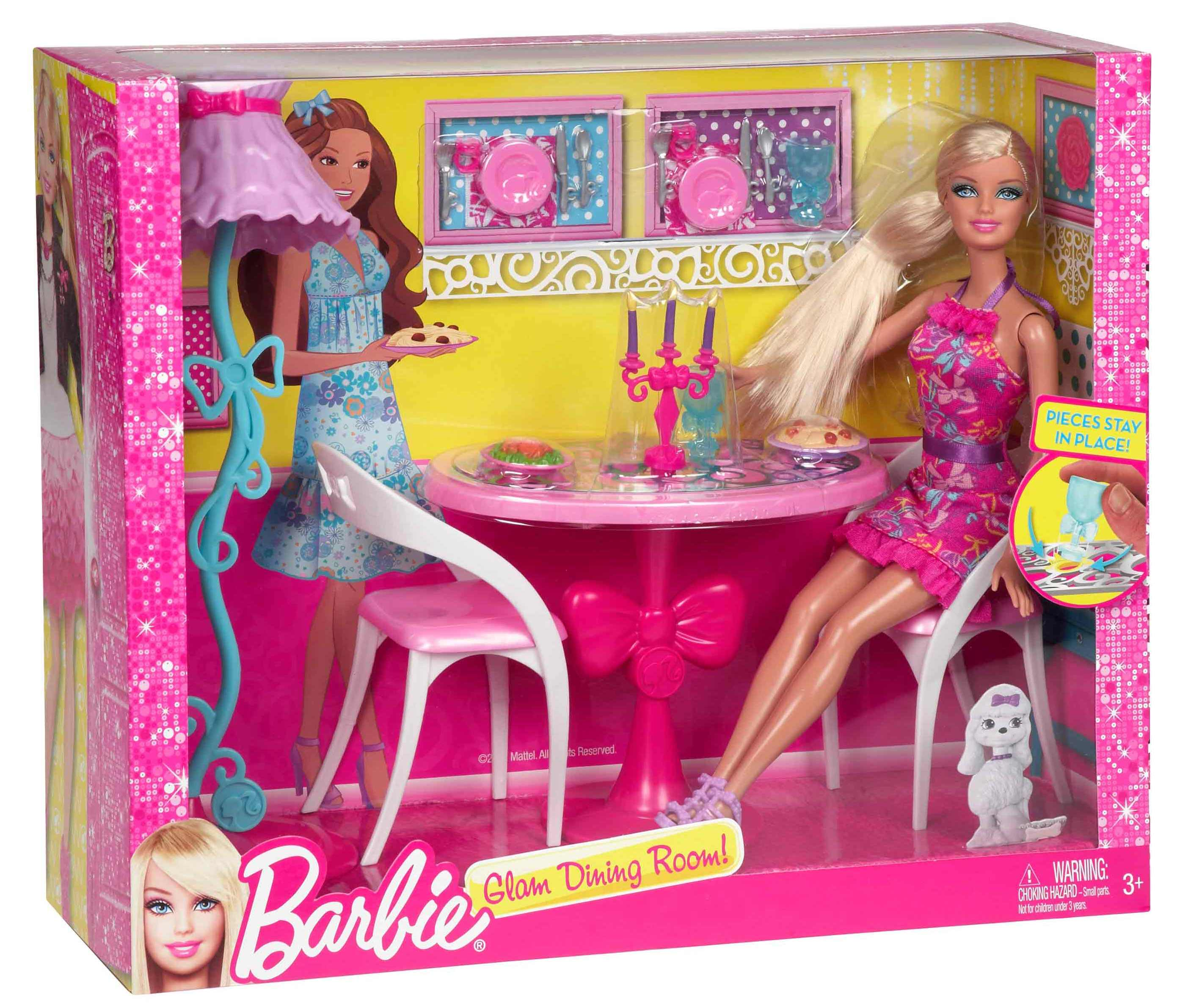 Barbie Doll Living Room Furniture Set With Accessories Magrudy Com Toys