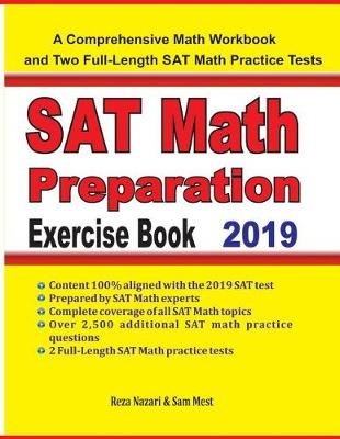 SAT Math Preparation Exercise Book: A Comprehensive Math Workbook and Two  Full-Length SAT Math Practice Tests