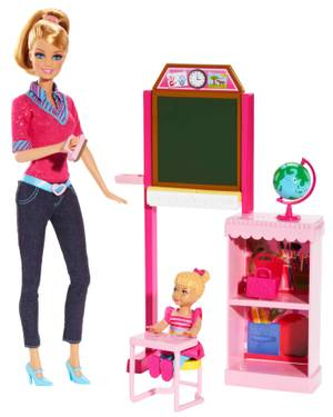 Bdt51 Barbie Career Playsets - Grade School Teach