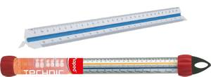 Md-240011 Ruler Scale Triangular Orng