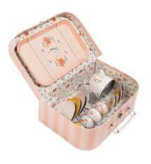 Moulin Roty Tin Tea Set in a Suitcase