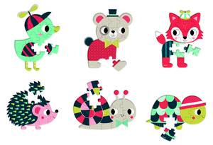 Janod Baby Forest Mini 6 Pcs Puzzle