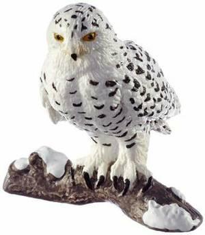 Schleich Snowy Owl Toy Figure
