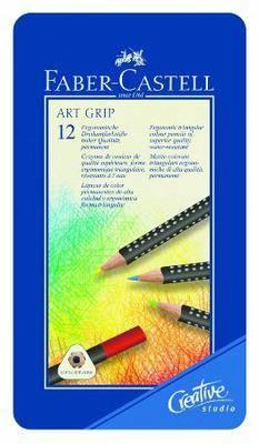 Faber-Castell Art GRIP Color Pencils, Tin of 12