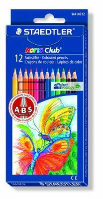 Staedtler Noris Club Colouring Pencils 144 NC12 Asst Pack 12