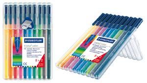 Staedtler Triplus Triangular Barrel Fiber-Tip Markers Bonus Pack, 323SB10P