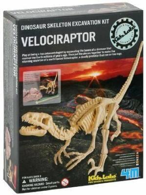 4M Dig a Dino Skeleton Velociraptor