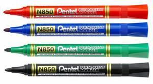 Pe-N850-A Permanent Marker Black Bullet Tip