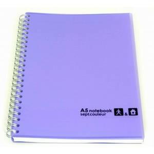 Sept Couleur Notebook A5 80 Sheet Light Purple