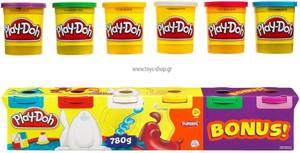 Play Doh - Loisir Créatif - Pâte à Modeler - 4 + 2 Couleurs Primaires