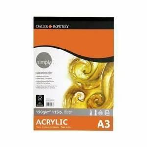 Daler Rowney Simply A3 Acrylic Pad 16 sheet 190gsm