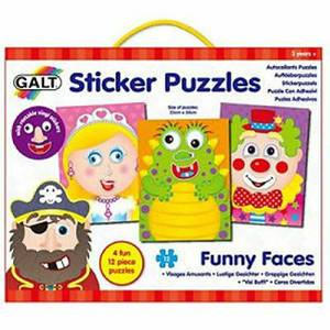 Galt Sticker Funny Faces Puzzles