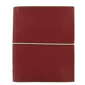 Filofax Domino Personal Organiser Elastic Closure for Refills A5 Red Ref 27872