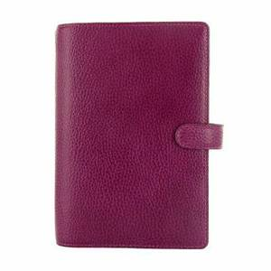 FiloFax Finsbury, Personal Grained Leather, 025305, Raspberry