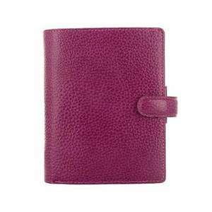 Filofax Finsbury Personal Organiser Leather Rambling Grain Pocket Raspberry Ref 025342