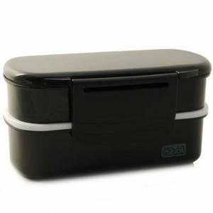 polar gear bento lunch box 1 1l black. Black Bedroom Furniture Sets. Home Design Ideas