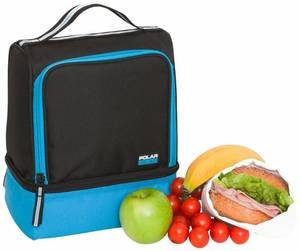 Active 2 Compartment Lunch Cooler, Turquoise