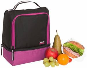 Active 2 Compartment Lunch Cooler, Raspberry
