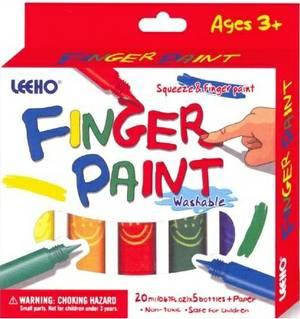 Lo-Fgp-20Se-05 Finger Paint 20Ml Set=5Colours