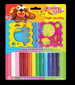 Kc-St-200-12+2Fm Modelling Clay 12Col+2 Flx Mld