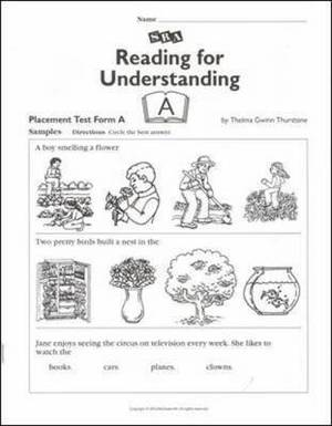 Reading for Understanding, Placement Test A, Grades 1-3