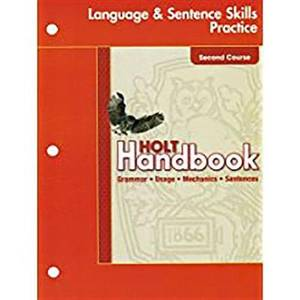 Holt Elements of Language: Student Edition Language Practice Grade 8