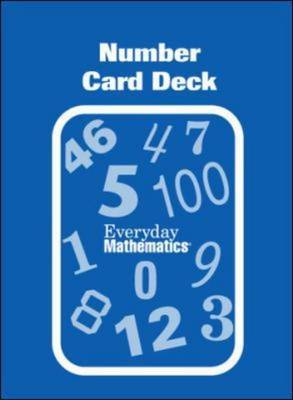 Everyday Mathematic Grades PK-K, Family Games Kit Number Card Deck