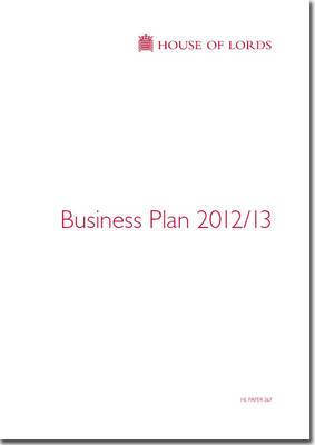 House of Lords Business Plan 2012/13