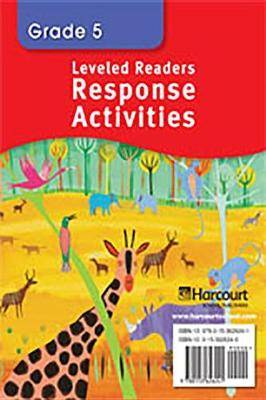 Storytown: Below Level Readers Response Activities Grade 5