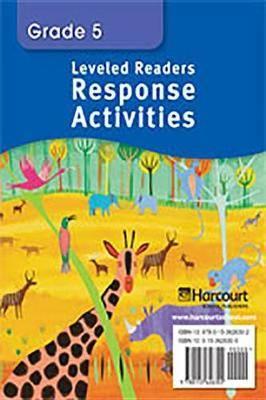 Storytown: On Level Readers Response Activities Grade 5