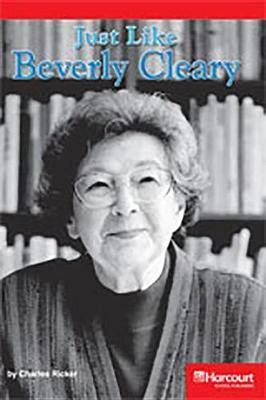 Storytown: Below Level Reader Teacher's Guide Grade 4 Just Like Beverly Cleary