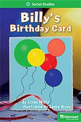 Storytown: Above Level Reader Teacher's Guide Grade 1 Billys Birthday Card