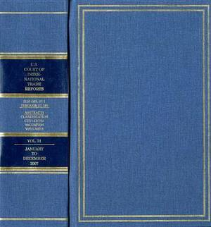United States Court of International Trade Reports, Cases Adjudged in the United States Court of International Trade, Volume 31, 2007