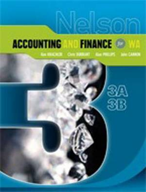 Nelson Accounting and Finance 3A-3B