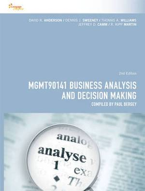 Cp0995 - Mgmt90141 Business Analysis and Decision Making
