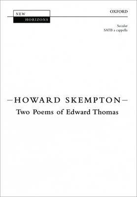 Two Poems of Edward Thomas: Vocal Score