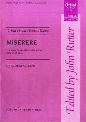 Miserere: Vocal Score