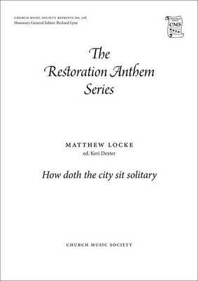 How Doth the City Sit Solitary: Vocal Score