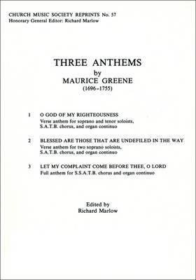 Three Anthems: Vocal Score