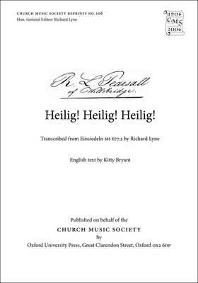 Heilig, Heilig: Vocal Score