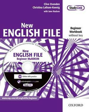 New English File: Beginner: Workbook with MultiROM Pack: Six-level General English Course for Adults: Beginner level: Workbook without Key and MultiROM Pack