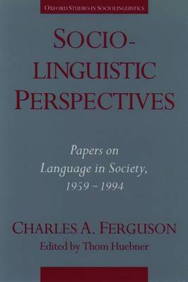 Sociolinguistic Perspectives: Papers on Language in Society, 1959-1994