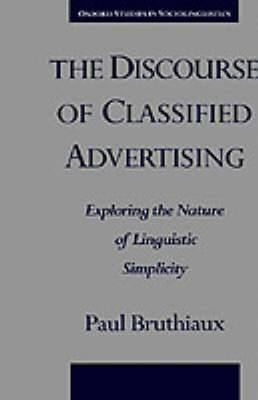 The Discourse of Classified Advertising: Exploring the Nature of Linguistic Simplicity