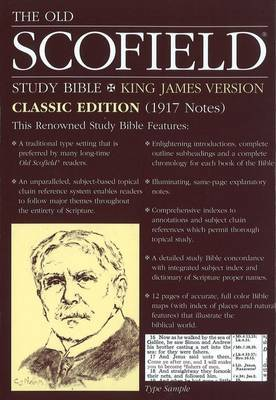 The Old Scofield Study Bible, KJV: Bonded Leather, Navy, Thumb Indexed