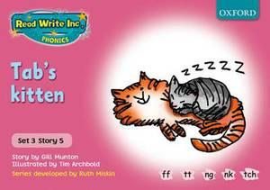 Read Write Inc. Phonics: Pink Set 3 Storybooks: Tab's Kitten