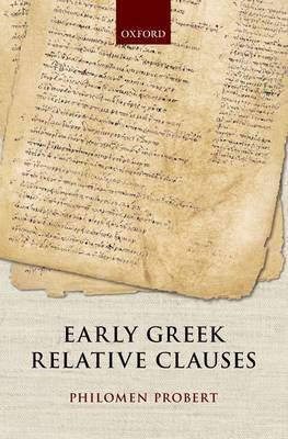 Early Greek Relative Clauses
