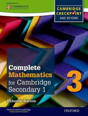 Complete Mathematics for Cambridge Secondary 1 Student Book 3: For Cambridge Checkpoint and Beyond