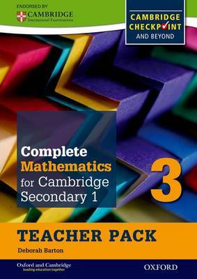 Complete Mathematics for Cambridge Secondary 1 Teacher Pack 3: For Cambridge Checkpoint and Beyond