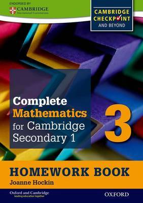 Complete Mathematics for Cambridge Secondary 1 Homework Book 3 (Pack of 15): For Cambridge Checkpoint and Beyond